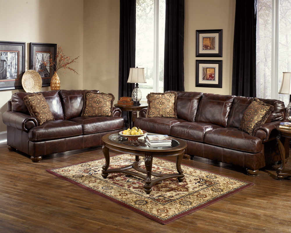 Brown Leather Living Room Furniture 1000 x 800