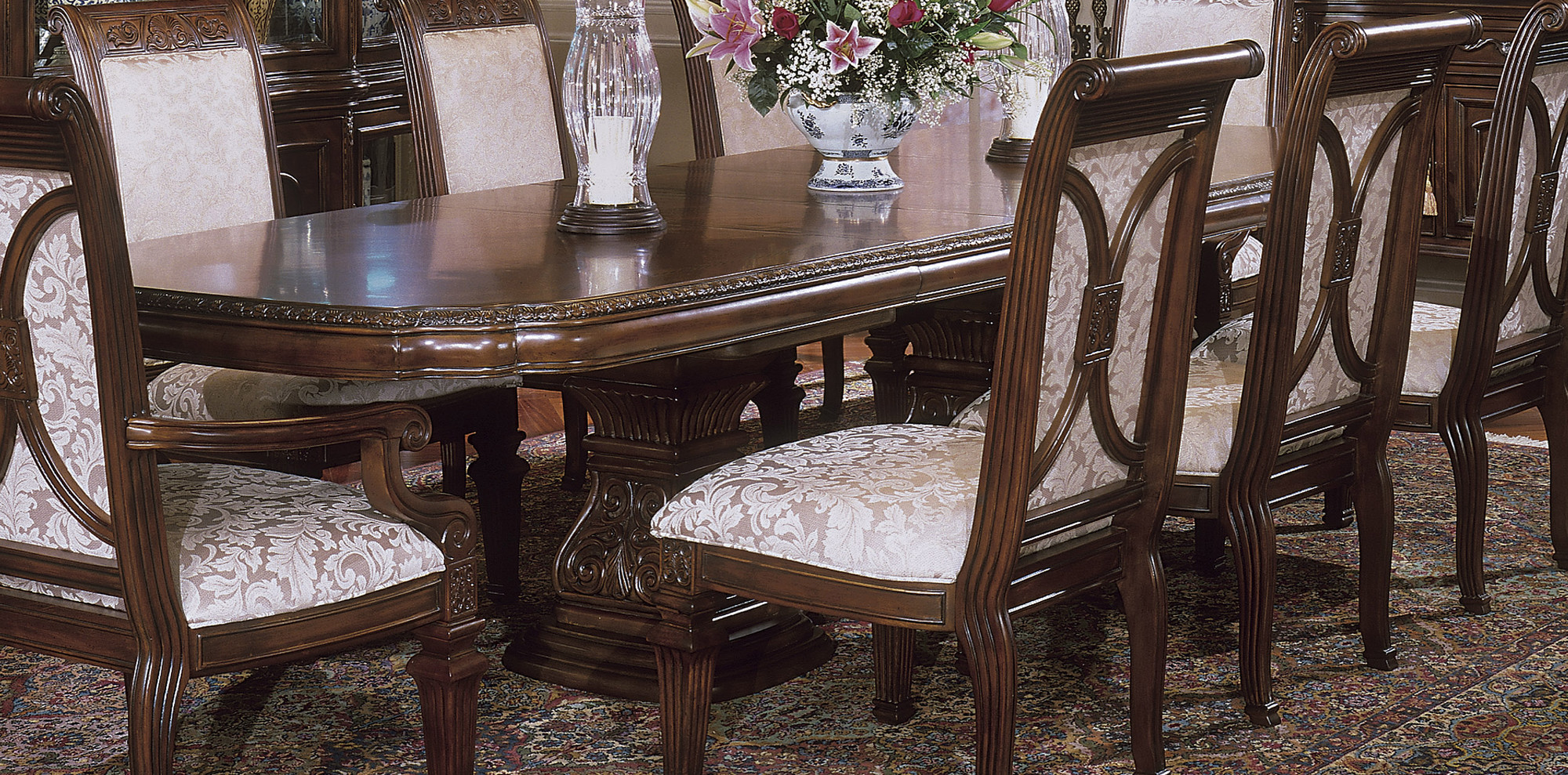 aico villagio dining room set by michael amini broadway furniture