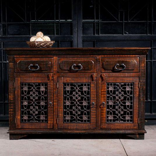 Horizon Home Burma Tv Console In Dark Pine Broadway Furniture