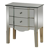 2 Drawer Mirrored Side Table By Stylecraft Broadway Furniture