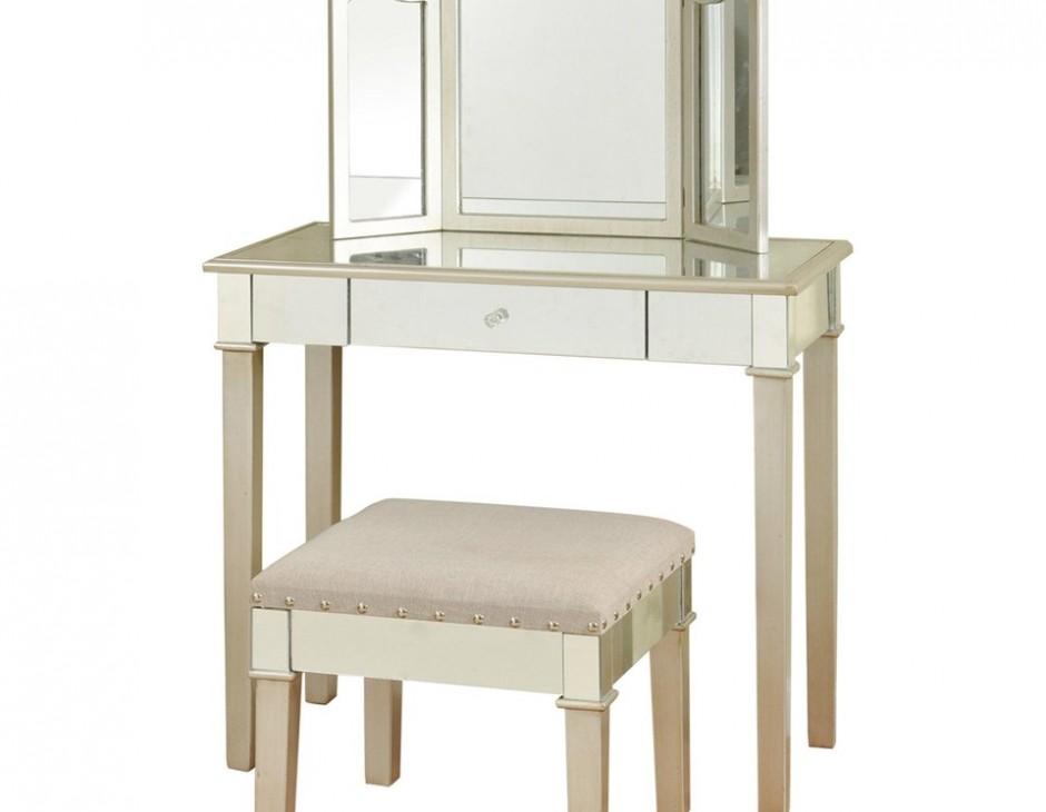 Stylecraft Hollywood Glamor Designed Makeup Vanity Broadway Furniture