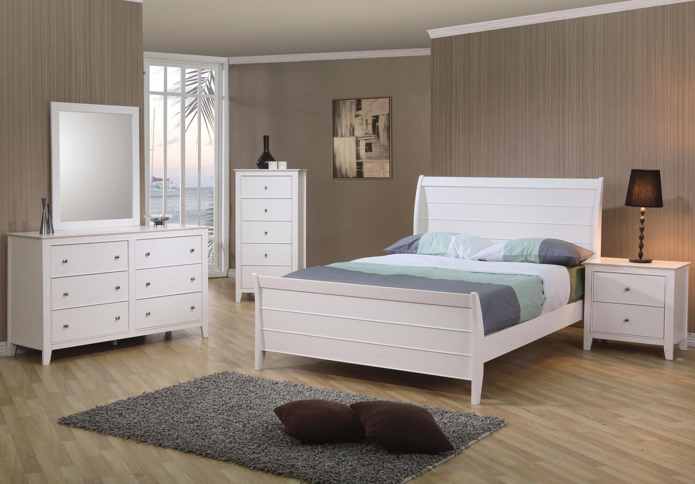 Coaster Furniture - Selena Bedroom Set white