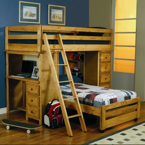 Coaster Furniture - Wrangle Hill Bunk Bed with ladder