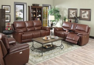 Emerald Home Furnishings Welby Living Room Collection Power-Motion-Colletion-Brown-Leather