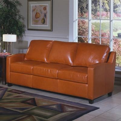Omnia Furniture Chelsea Deco Leather Sleeper Sofa