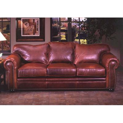 Omnia Furniture Monte Carlo Queen Leather Sofa Bed