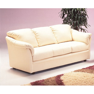 Omnia Furniture Salerno Leather Sleeper Sofa
