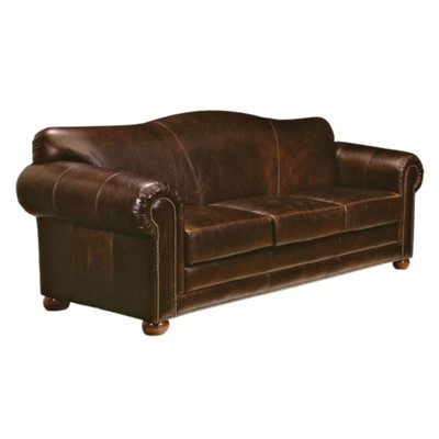 Omnia Furniture Sedona Leather Sleeper Loveseats