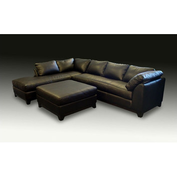 Omnia Furniture Villa Leather Collection sectional