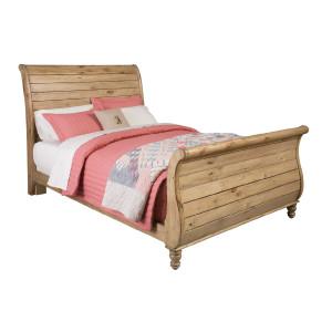 Kincaid Homecoming Vintage Pine Sleigh Bed King
