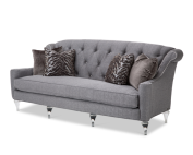 Aico Adele Tufted Sofa Clear With Crystals