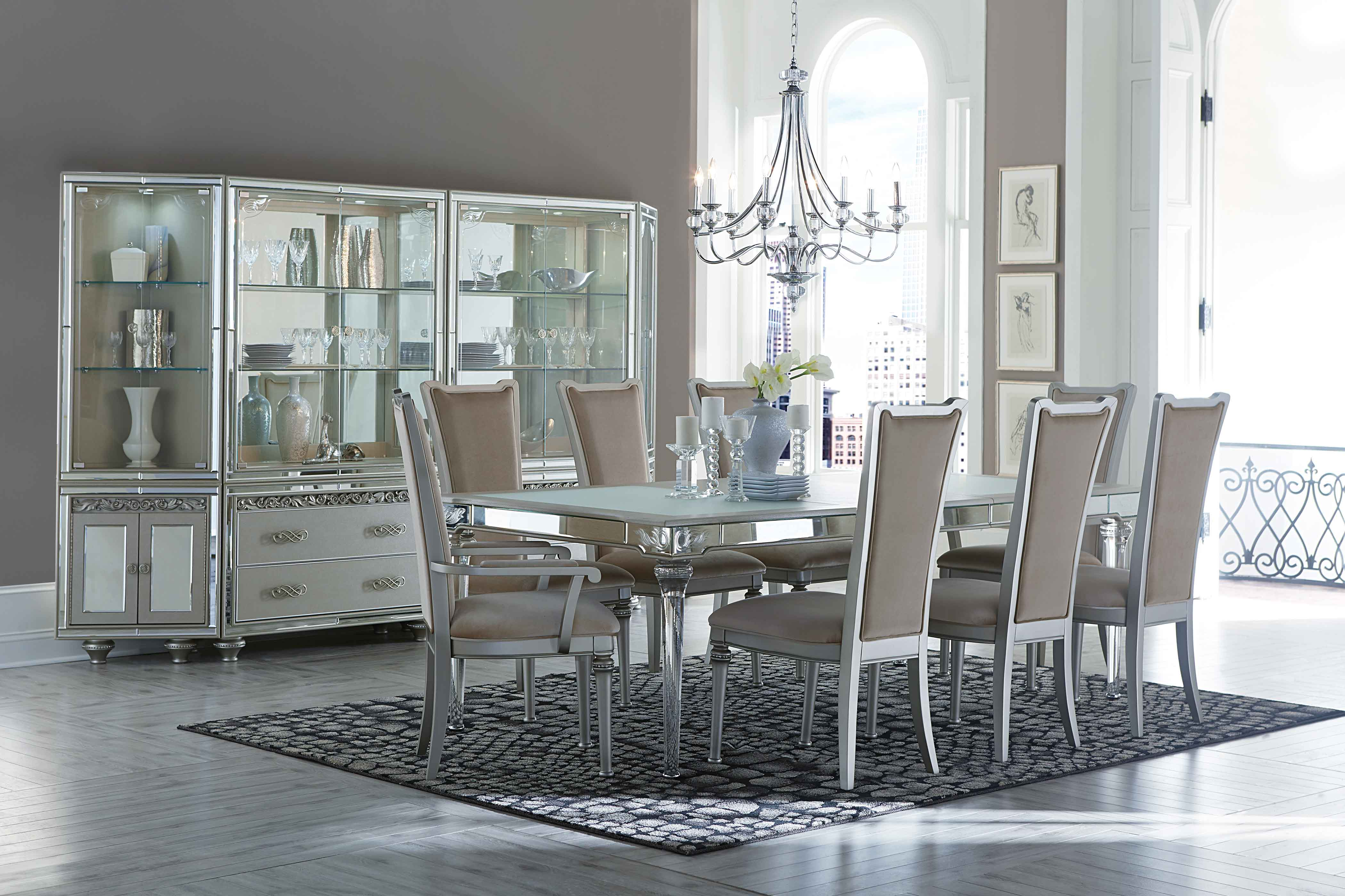 Aico bel air park dining room collection broadway furniture for Dining room collections