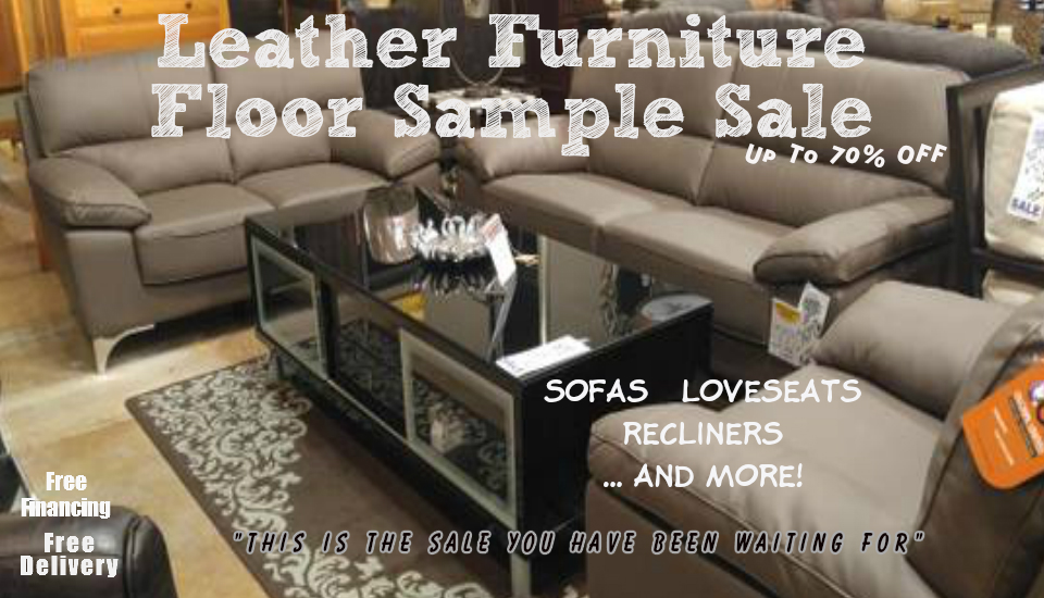 Leather Furniture FLoor Sample Sale
