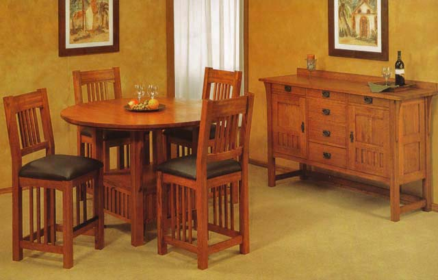 Trend Manor Mission Dining Room Set Broadway Furniture
