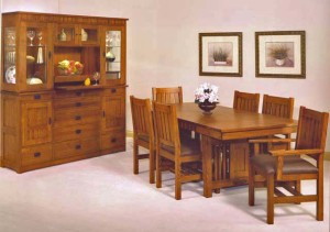 ... Set #1268 Trend Manor Standard Height Mission Dining 1268 & Trend Manor Mission Dining Room Set   Broadway Furniture