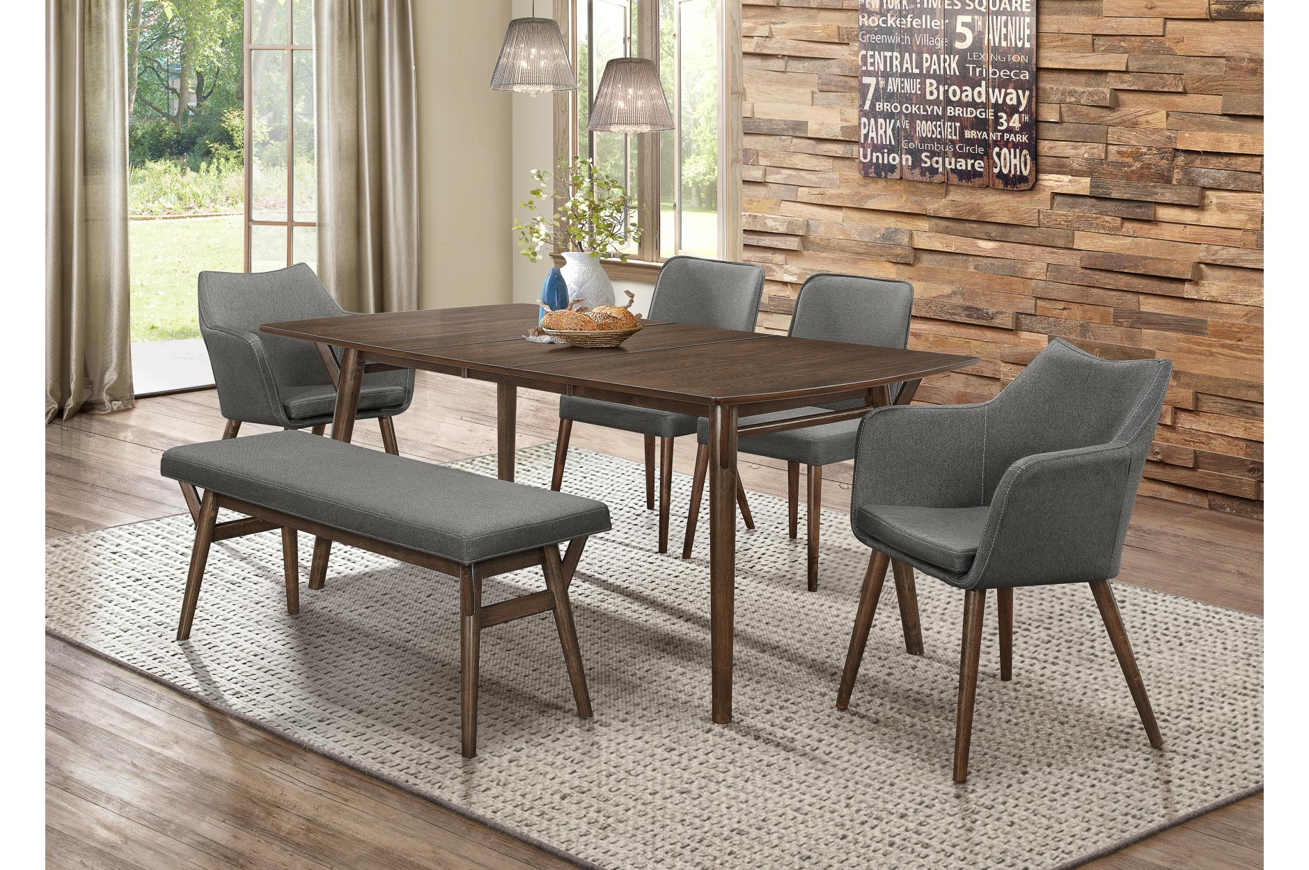 Stratus 56 Quot Dining Table W 16 Quot Leaf By Homelegance