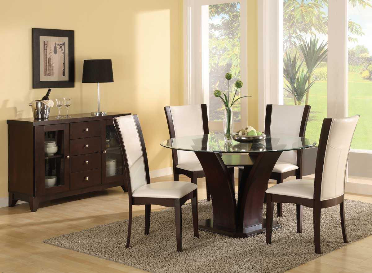 Glass Top Dining Room Table Sets