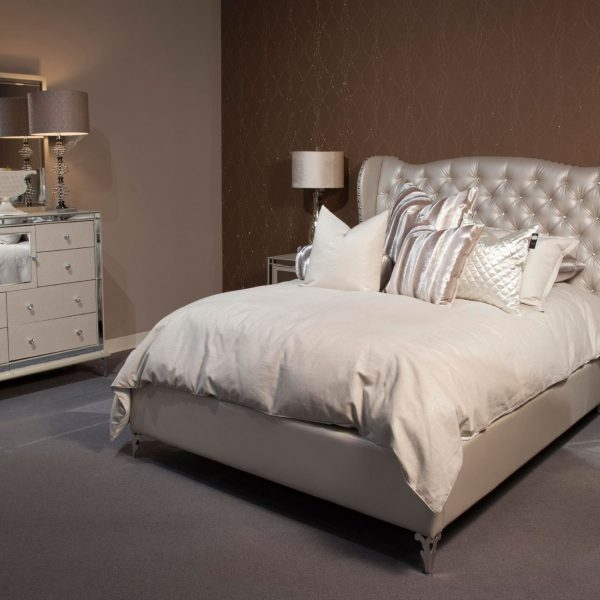 Aico Furniture Hollywood Loft Bedroom Silver