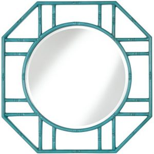 blue Bamboo Bliss Mirror to illustrate how to brighten up your living room