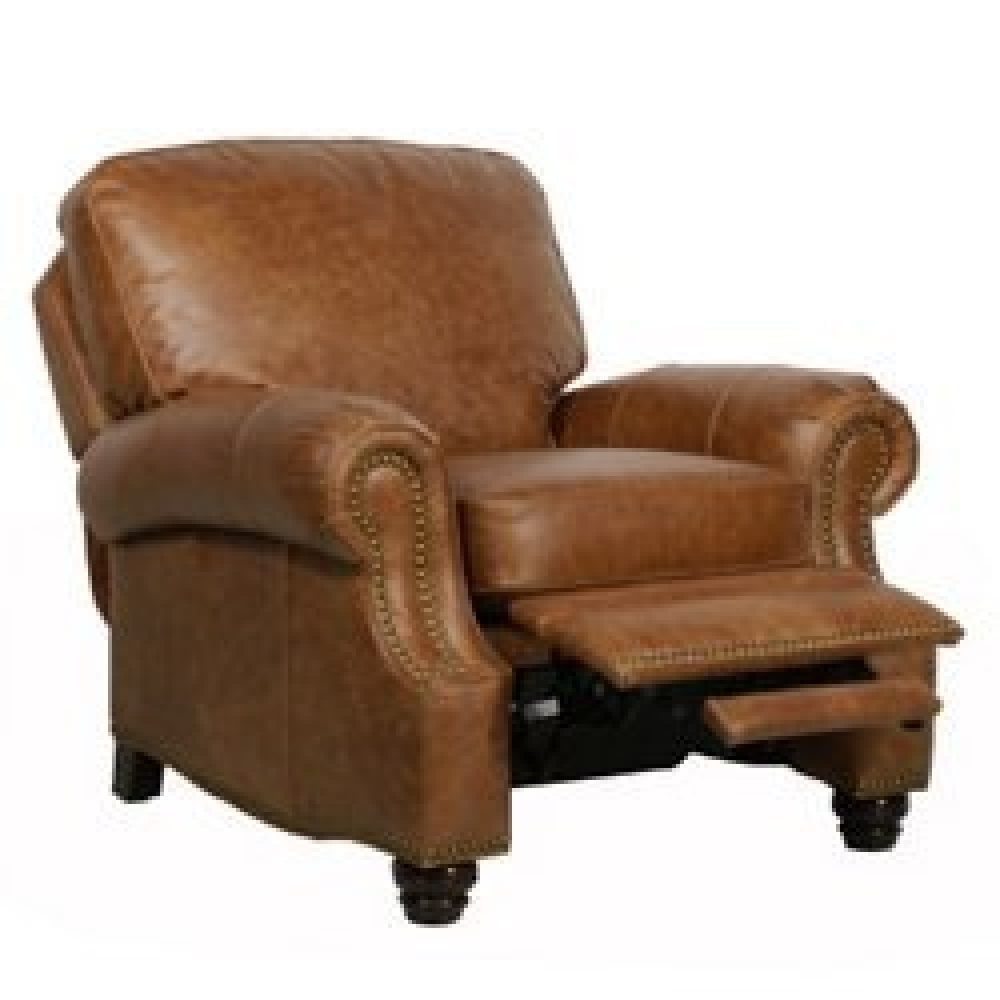 Barcalounger Longhorn II Leather Recliner Saddle Leather Espresso