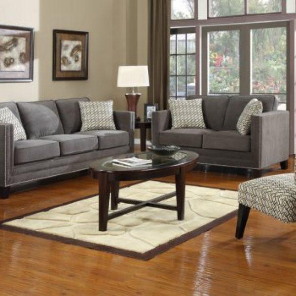 Emerald Home Furnishings Carlton Living Room Set Grey