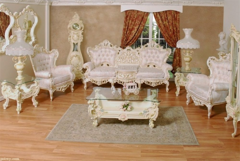 Elegant French Provincial Living Room Furniture 641