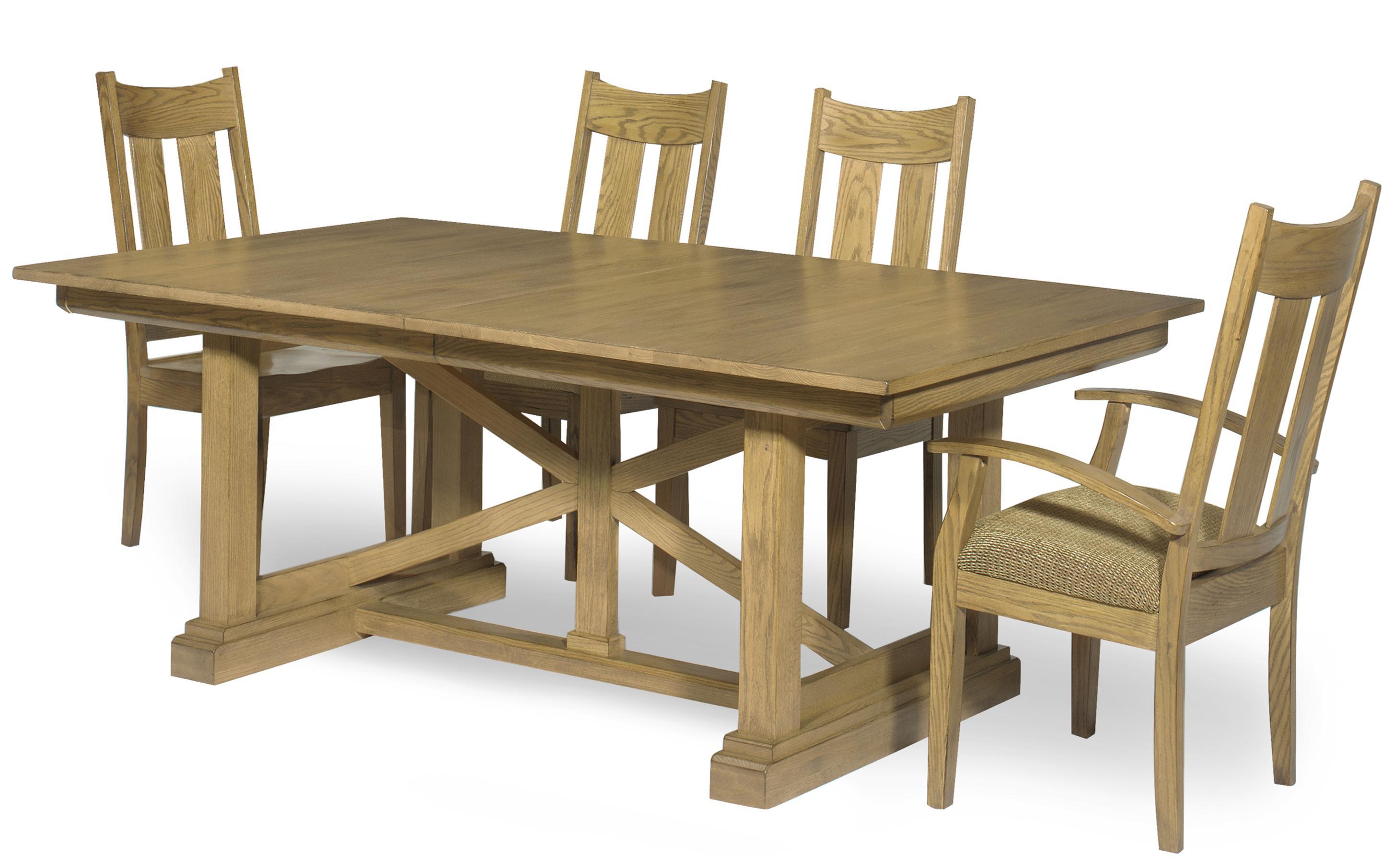 Lincolnton Furniture Fremont Oak Dining Set Broadway
