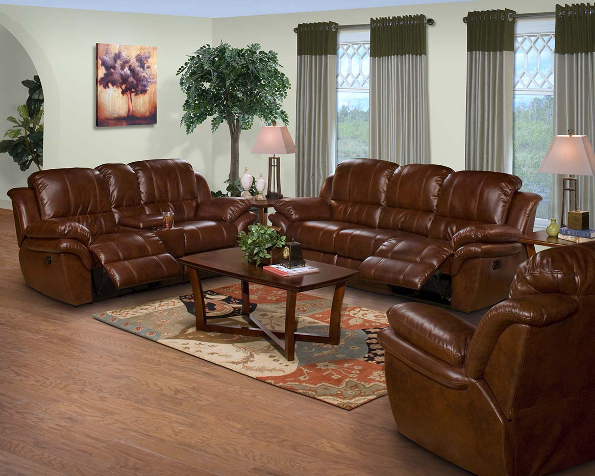 New Classic CABO Leather Living Room Set Broadway Furniture