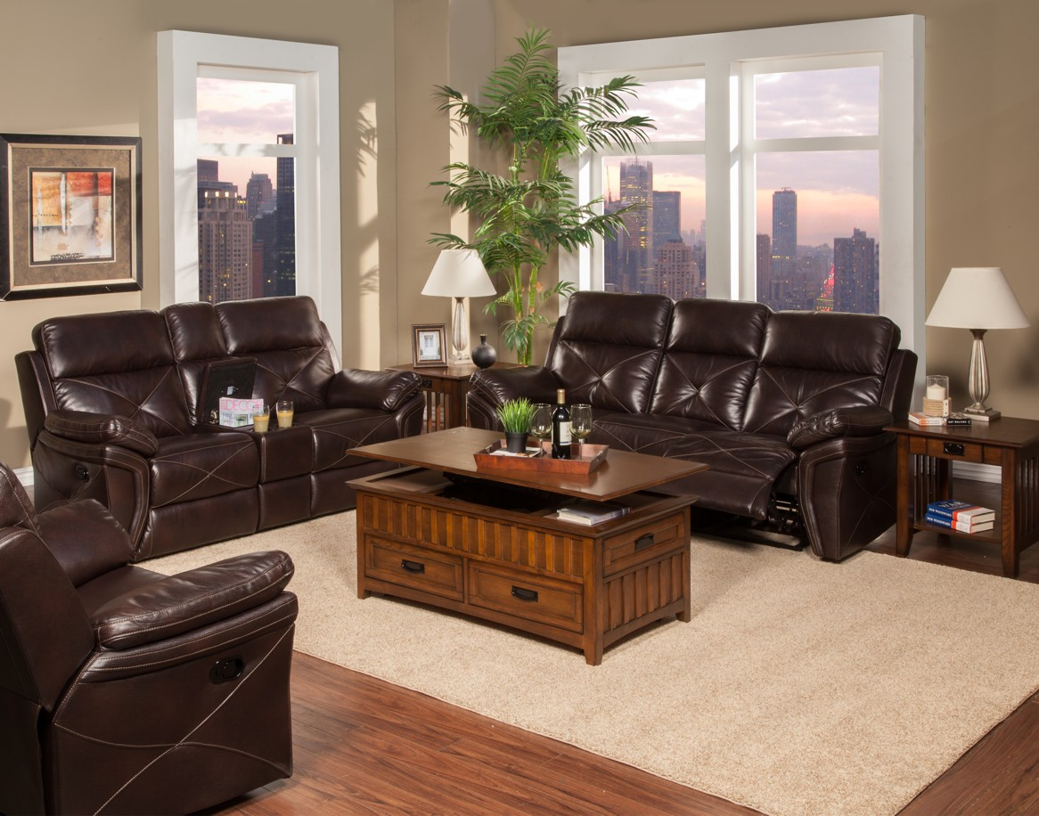 New Classic GALAXY Leather Living Room Set Broadway Furniture