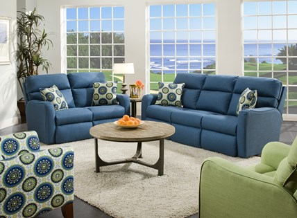 blue leather loveseat southern motion solarium st simon sofa and loveseat broadway