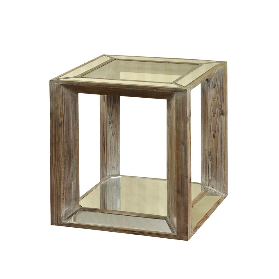 Stylecraft Solid Wood And Glass Square End Table Broadway Furniture