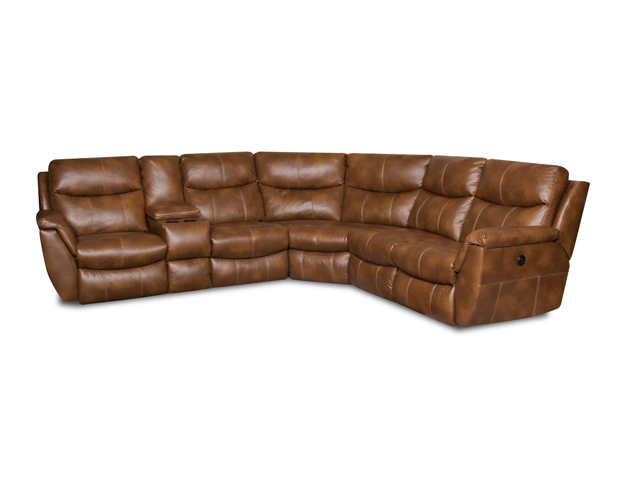 southern motion monaco bravo cognac sectional - Southern Motion Furniture