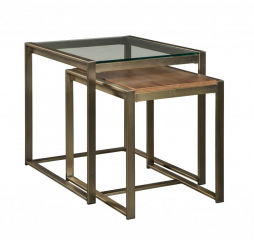 Elgin Nesting Metal End Table by Jonathan Louis