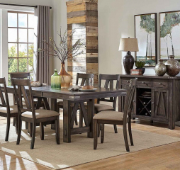 Mattawa 60″ Dining Table w/ 18″ Leaf by Homelegance