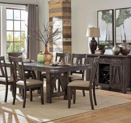 Mattawa 60″ Dining Table w/ 18″ Leaf by Homelegance