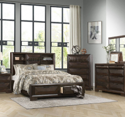 Chesky Platform Bed w/ Footboard Storage by Homelegance