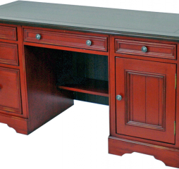 Barcelona 59″ Double Pedestal Computer Desk by North American Wood