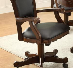 Casual Mitchell Black and Tobacco Upholstered Game Chair by Coaster