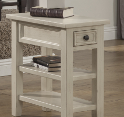 Kona Chairside Table w/ Two Shelves and One Drawer by North American Wood