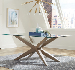 Artesia Glass Top Dining Table by Coaster
