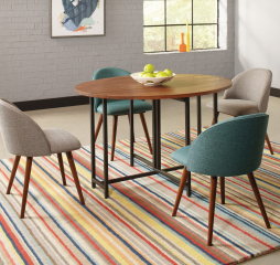 Bridgeport Oval Dining Table w/ Two Drop Leaves by Coaster