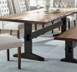Bexley Live Edge Trestle Dining Table by Coaster
