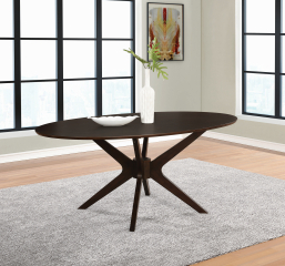 Jarmen Oval Dining Table by Coaster