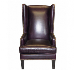 Ridley Leather Wing Chair by Jonathan Louis