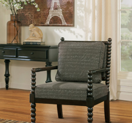 Milari Linen Showood Accent Chair Signature Design by Ashley