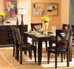 Crown Point 60″ Dining Table w/ 18″ Leaf by Homelegance