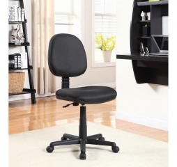 Casual Black Wheeled Swivel Office Chair by Coaster