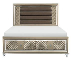Loudon Platform Bed w/ LED Lighting and Footboard Storage by Homelegance