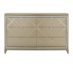 Bijou Dresser w/ Hidden Jewelry Drawers by Homelegance