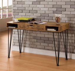 Industrial Antique Nutmeg Writing Desk by Coaster